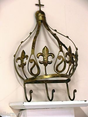 large crown gold coat hanger  NEW wrought iron. (French)
