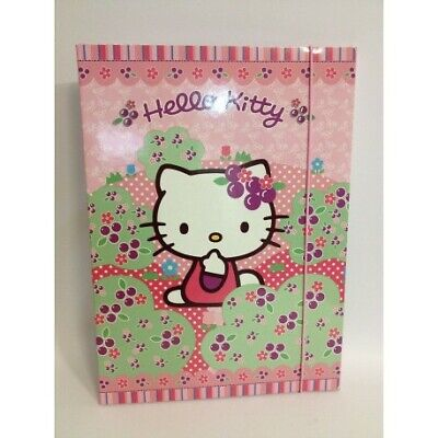 Hello kitty rosa carpetta con elastico