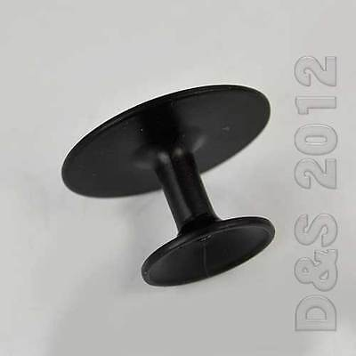 6 X Round Black 30mm Drawer Kitchen Cabinet Cupboard Door Pull Knob Lots