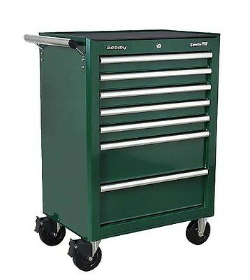 Sealey AP26479TBRG Rollcab 7 Drawer with Ball Bearing Runners Green New