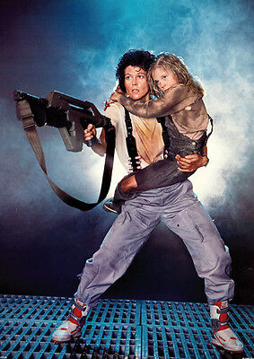 Aliens Sigourney Weaver Ripley and Newt Poster