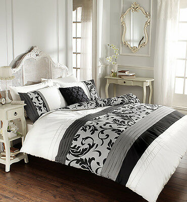 Duvet Cover Set With Pillow Cases Bed Quilt Cover Set Single Double King Scroll