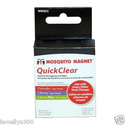 Mosquito Magnet 12 gram CO2 cartridge MMQCC 3 pack NEW!