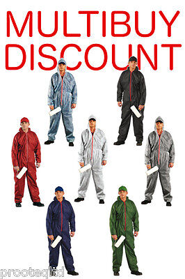 Disposable Overalls Coveralls Hood Painters Decorator Suit Protective Boilersuit
