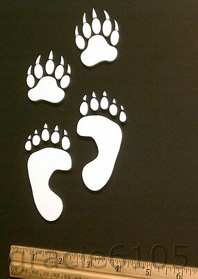 """Bear Rear And Front Paws, Vinyl Decal, Sticker / 5 1/2"""" Inches On Lontest Side"""