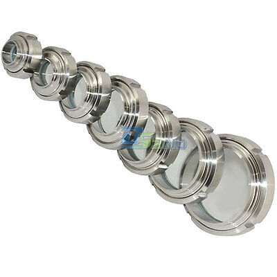 """32-102mm 1-1/4""""-4"""" Sanitary Sight Glass Stainless Steel 316 Circular Viewing Hot"""