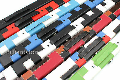 3/4 Handmade Snooker Pool Hard Cue Case Choose Your Favourite Patch Color