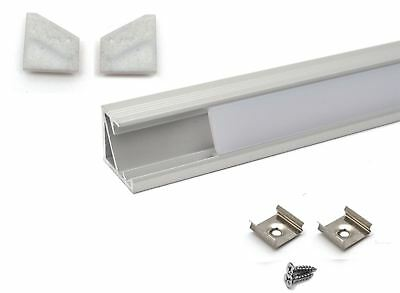 LED Aluminium Profile Corner 1M for LED strip light with opal cover
