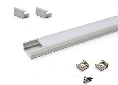 LED Aluminium Profile Straight 1M for LED strip light with opal cover