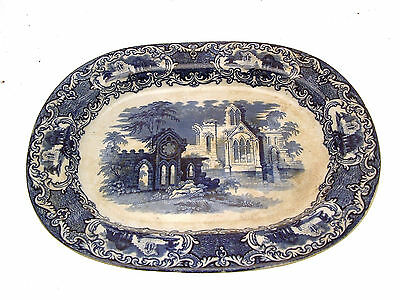 c1900 George Jones 16 inch ashet or meat plate Abbey ware pattern