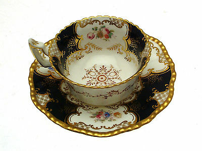 Coalport Blue Batwing Y2665 Cup and Saucer