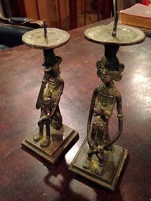 Rare Unusual Antique African Bronze Statue Sculpture Art