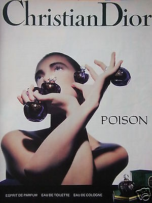 Publicité 1989 Christian Dior Poison Esprit De Parfum - Advertising
