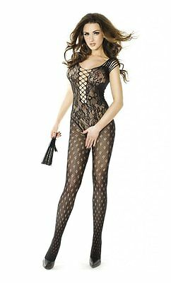LINGERIE SEXY INTIMO DONNA BODYSTOCKING CATSUIT nera APERTA SOTTO AL CAVALLO HOT