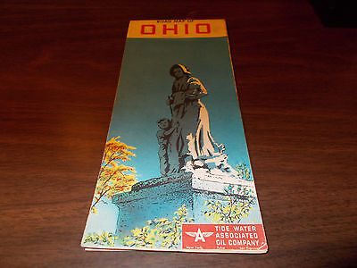 1953 Flying A OHIO Vintage Road Map