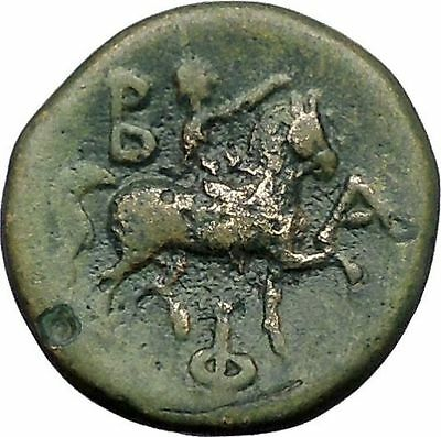 PHILIP V King of Macedonia 212BC Zeus Horseman Genuine Ancient Greek Coin i49231