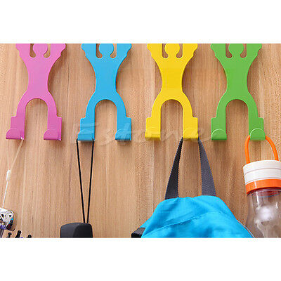 New Human Stainless Over Door 2 Hooks Kitchen Cabinet Draw Clothes Holder Hanger