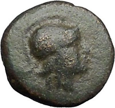 MYRINA in AEOLIS 400BC Athena Amphora Authentic Ancient Greek Coin i49565