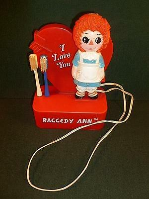 Vintage 1973 Raggedy Ann Battery Operated Toothbrush-BL