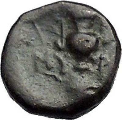 MYRINA in AEOLIS 400BC Athena Amphora Authentic Ancient Greek Coin i49555