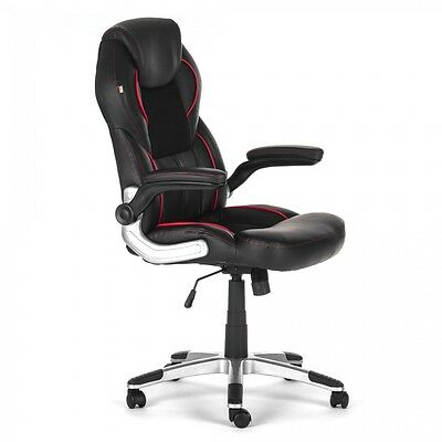 Office Chair Executive Computer Desk adjustable Armrest Faux Leather Swivel New