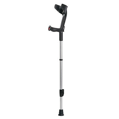 Rebotec BIG 250 Light Weight Heavy Duty - Elbow Forearm Crutches Black Strong