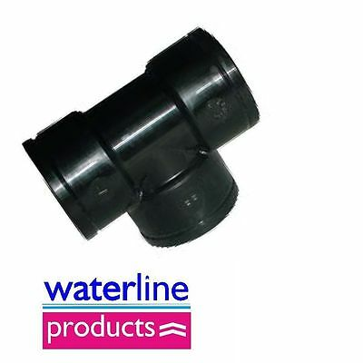 BSP Female Equal Tee Polypropylene/PP/Black Plastic Pipe Fitting