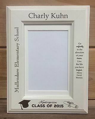 GRADUATION PICTURE FRAME, Laser Engraved, Personalized, White, Wood ...