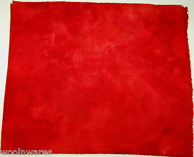 """HAND DYED RUG HOOKING WOOL Over-Dyed ~ """"POPPY RED (A)"""""""