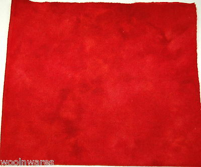 """HAND DYED RUG HOOKING WOOL Over-Dyed ~ """"POPPY RED (B)"""""""
