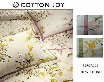 Completo Lenzuolo. Percalle 100% Cotone. COTTON JOY - COUTURE. Matrimoniale.
