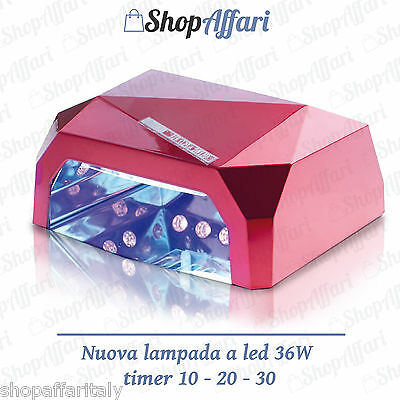 Lampada uv a led per unghie fornetto professionale 36 wtt led nail art