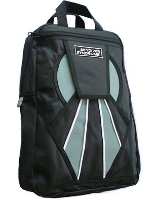 Skydiver Syndrome Backpack Parachute Mini Container Rig Gym Book Bag Black S13