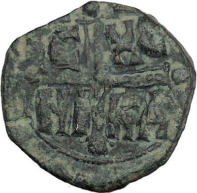 JESUS CHRIST Class C Anonymous Ancient 1034AD Byzantine Follis Coin i50124