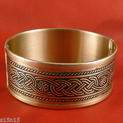 Floral Ornament Slavic Ancient Russia Folding Bracelet Brass Satiety Success