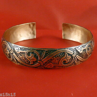 Floral Ornament Slavic Ancient Russia Platy Bracelet Brass Satiety Success