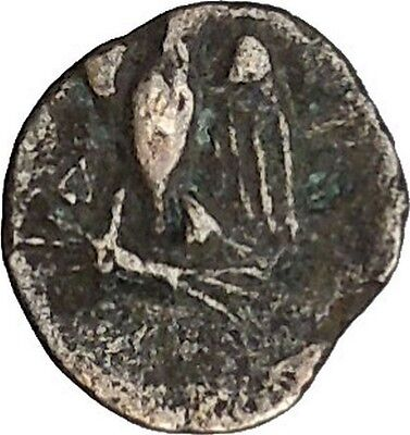 Authentic Ancient Greek City Coin 300-100BC Apollo Cult Eagle i49799
