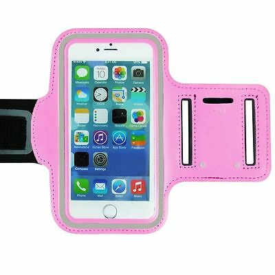 "Universal Adjustable Armband Case Holder For Mobiles UpTo 5.2"" Pink (Large)"