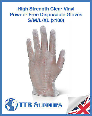 Vinyl Disposable Gloves Powder Free Small, Medium, Large, Extra Large x100