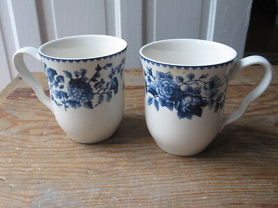 Two Biltmore For You Home Blue Ridge Rose Mugs