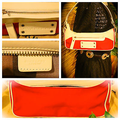 Nwot-Burberry Hobo! Red white (Limited Edition) Stunning! 9d8066b8bdcf9