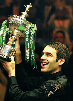 Ronnie O'SULLIVAN Signed Autograph 16x12 RARE Snooker LEGEND Photo AFTAL COA