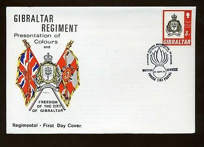 1971 Gibraltar Freedom of the City Regimental First Day Cover