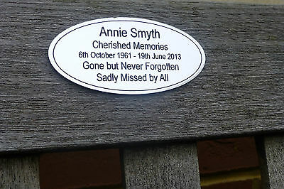 Personalised Memorial Bench Plaque Gold