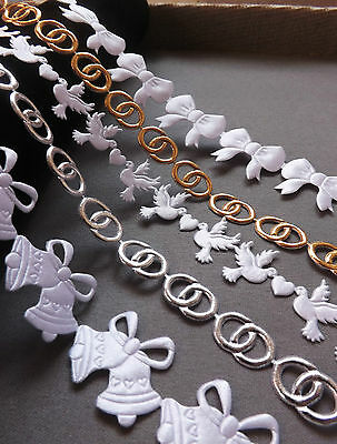 CRAFTS trimm ribbon Applique scrapbooking flowers baby shower kids sewing favors