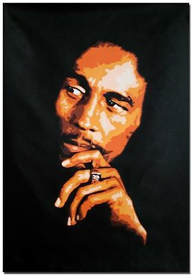 Genuine Oil Painting on Canvas-Bob Marley Reggae Music * 100% HAND PAINTED *