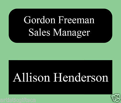 1X3 Personalized Metal I.D Name Tag Badge 20 Colors Magnet or Pin