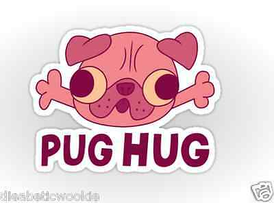 Gravity Falls pug hug dog Sticker decal car laptop scrapbook