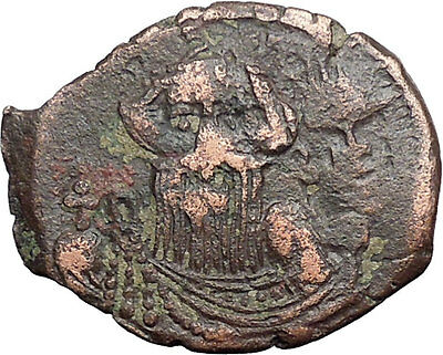 CONSTANS II 641AD Follis Syracuse Sicily Ancient Medieval Byzantine Coin i48811