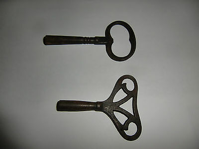 Two Antique Clock Key Winders